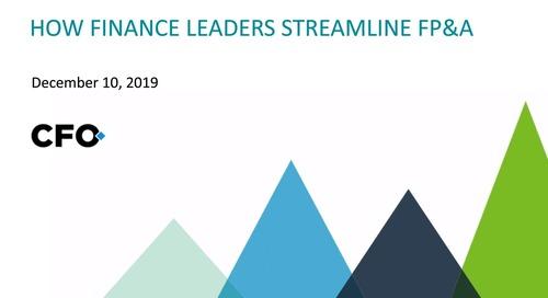 How Finance Leaders Streamline FP&A