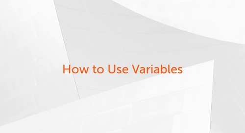 Enterprise A2019 - How to Use Variables