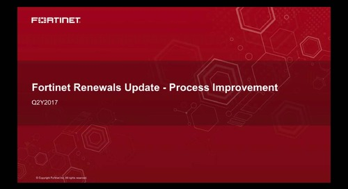 Renewal Order Process Improvements 2017