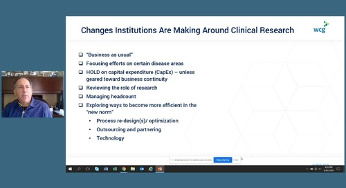 Velos Annual Meeting Day 1 - The New Urgency of Change in Clinical Research