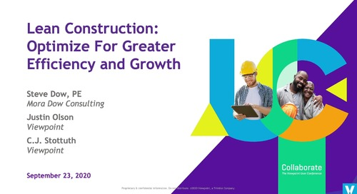 Lean Construction: Optimize for Greater Efficiency & Growth - Industry Professional