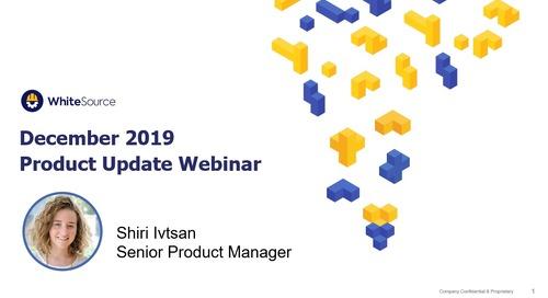 Product Update Webinar- December 2019