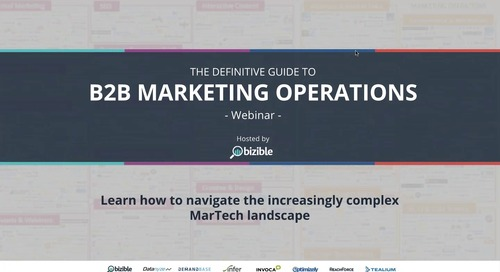 [Webinar] The Definitive Guide to B2B Marketing Operations