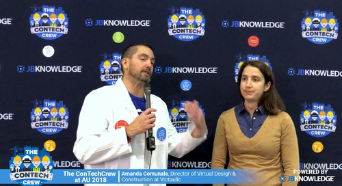 The ConTechCrew at AU 2018: Jeff Sample chats with Amanda Comunale From Victaulic