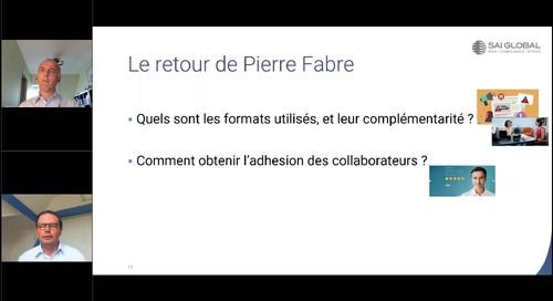 Retour d'expériences de Pierre Fabre : Comment réussir un programme de formation en éthique et conformité