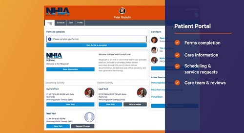 Family Portal: AlayaCare's home and specialty infusion software