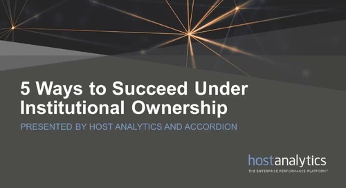5 Ways to Succeed Under Institutional Ownership