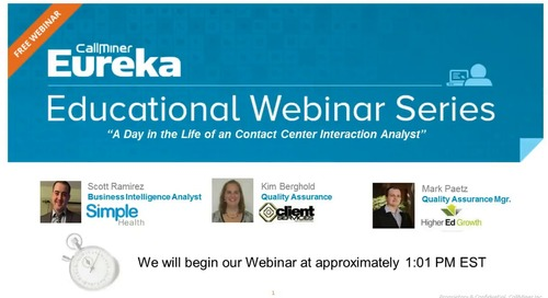 A Day in the Life of an Interaction Analytics Analyst