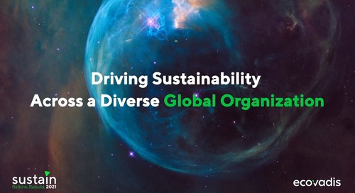 Driving Sustainability Across A Diverse Global Organization