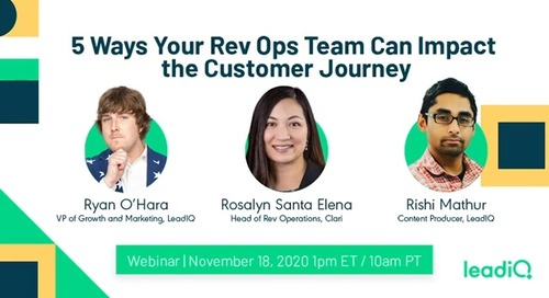 5 Ways Your Rev Ops Team Can Impact the Customer Journey