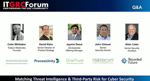Webinar Replay: Matching Threat Intelligence & Third-Party Risk