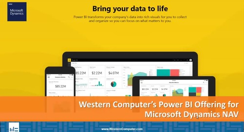 Western Computer's Power BI Offering for Microsoft Dynamics NAV