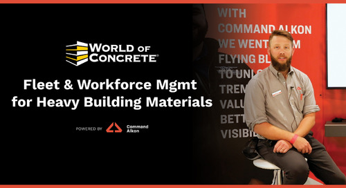 Fleet and Workforce Management for Heavy Building Materials | WOC 2021