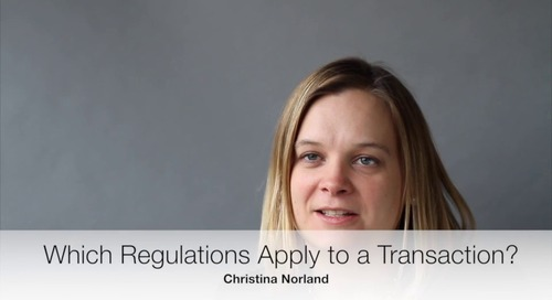 Which Regulations Apply to a Transaction