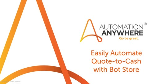 Easily Automate Quote-to-Cash with Bot Store