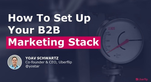 How to Set Up Your B2B Marketing Stack
