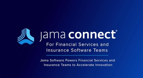Jama Connect® for Financial Services and Insurance Software Teams