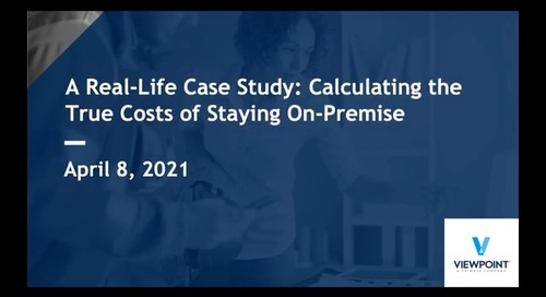 A Real-Life Case Study: Calculating the True Costs of Staying On-Premise