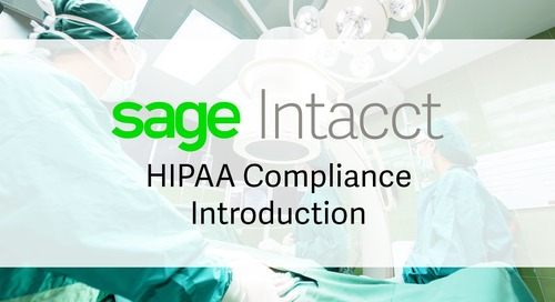 Sage Intacct HIPAA Compliance Introduction