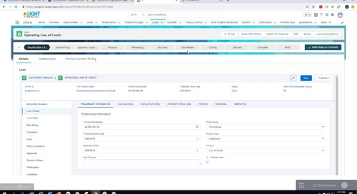 Salesforce & PrecisionLender Integration Demo