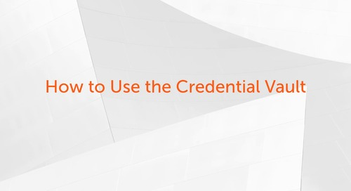 How to Use the Credential Vault