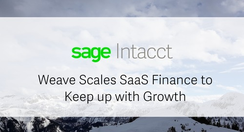 Weave Grows High-Volume Subscription Business +100% with Sage Intacct