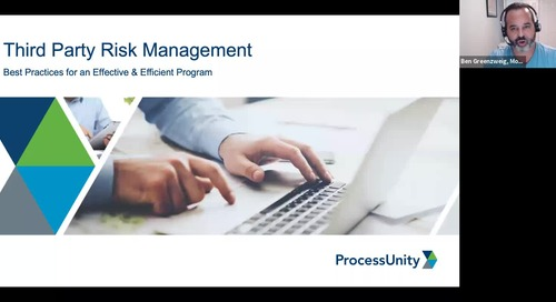Webinar: Third-Party Risk Management: Best Practices for an Effective and Efficient Program