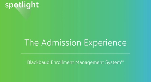 The Admission Experience