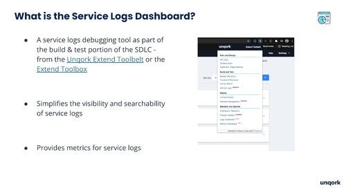 Webinar: Service Logs Dashboard