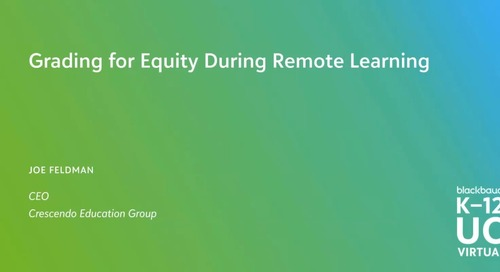 Grading for Equity During Remote Learning