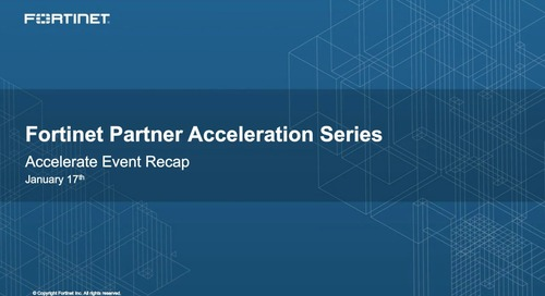 Partner Acceleration Series Webcast - January 2017