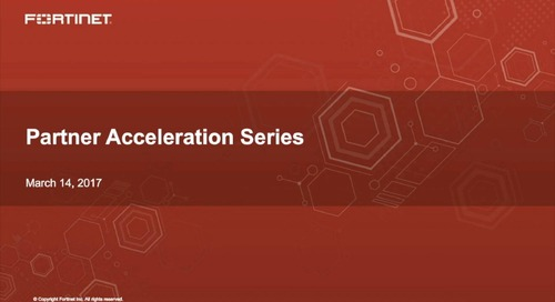 Partner Acceleration Series Webcast - March 2017