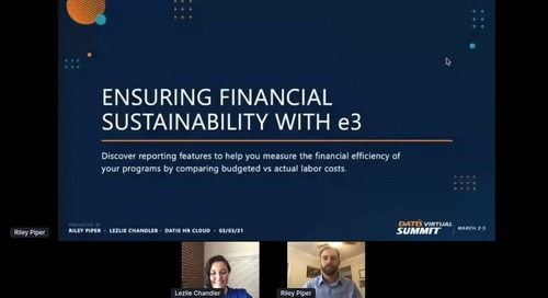 Ensuring Financial Sustainability with e3