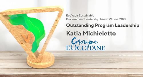 L'Occitane, Outstanding Program Leadership Award, Sustain 2021