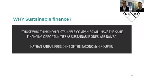 [Nexio Projects Webinar] The Principles of Sustainable Finance
