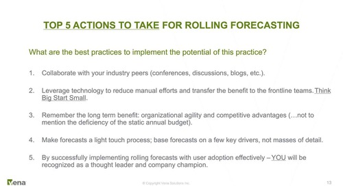 Rolling Forecasts - 30 Years of Spinning Our Wheels