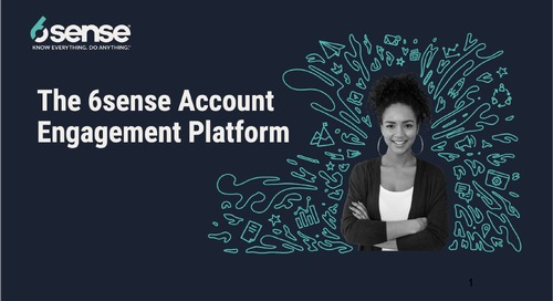 The 6sense Account Engagement Platform Demo for Marketing