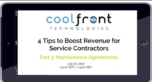 Boosting Revenue: Maintenance Agreements - Webinar