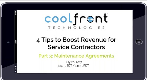 Boosting Revenue: Maintenance Agreements Webinar