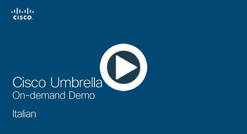 Cisco Umbrella On-demand Demo - Italian
