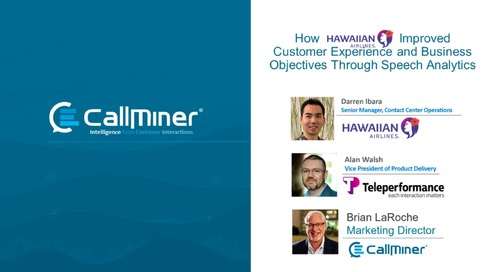 How Hawaiian Airlines Used Speech Analytics to Improve CX & Bottom Line Results