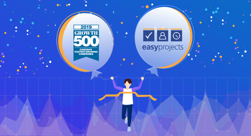 Easy Projects Makes Canada's Fastest Growing Companies list for the second year in a row