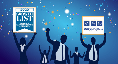 Easy Projects Ranks in Canada's Fastest-Growing Companies List 3rd Year in a Row