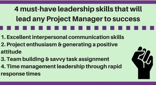 4 must-have leadership skills that will lead any Project Manager to success