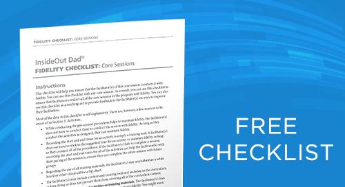Fidelity Checklist: InsideOut Dad® Third Edition