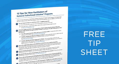 10 Tips for New Facilitators of NFI Programs