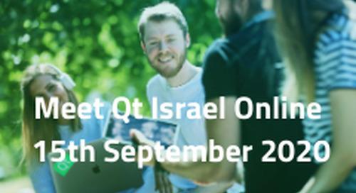 Meet Qt Israel Online  - Sep 15, 2020