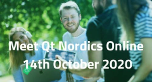 Meet Qt Nordics Online  - Oct 14, 2020