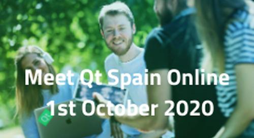 Meet Qt Spain online  - Oct 1, 2020