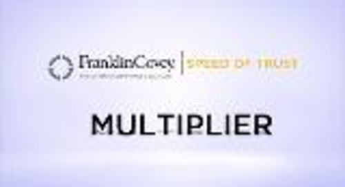 Speed Of Trust - Multiplier
